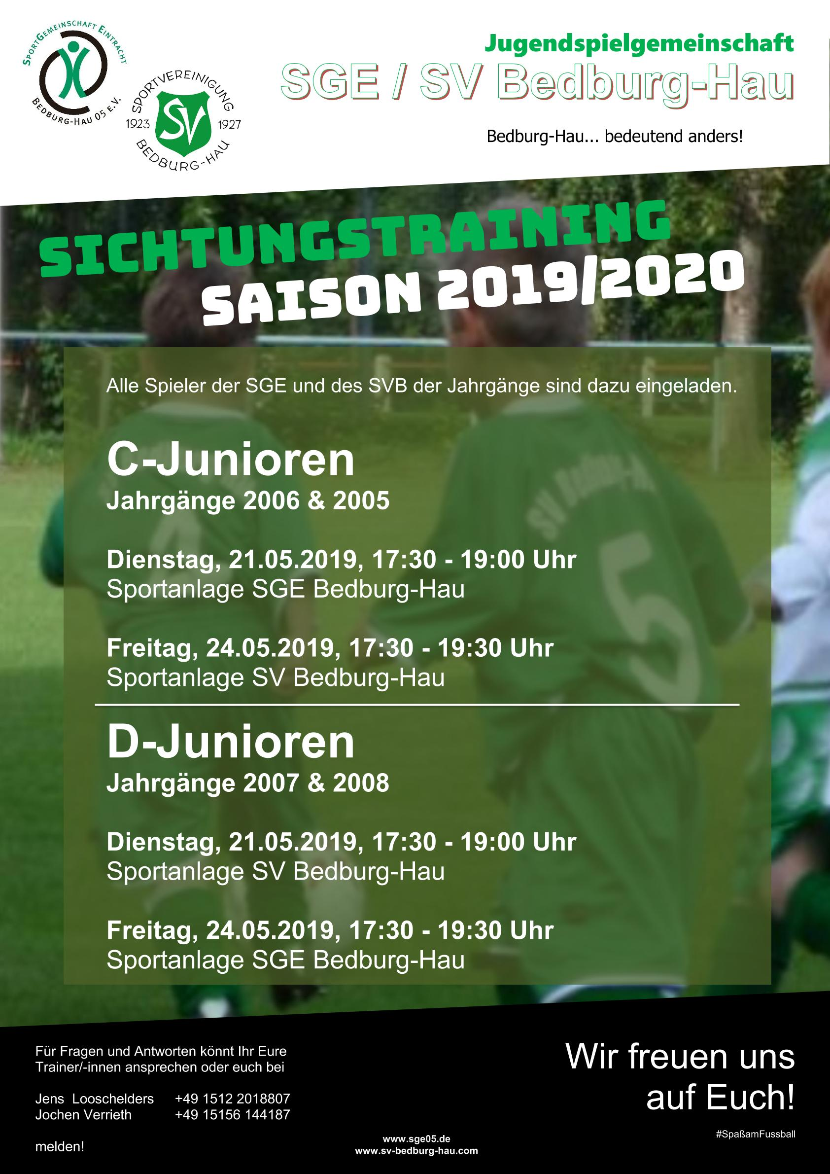 flyer sichtungstraining dc junioren
